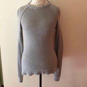Open Stitch Button Back Sweater Size M